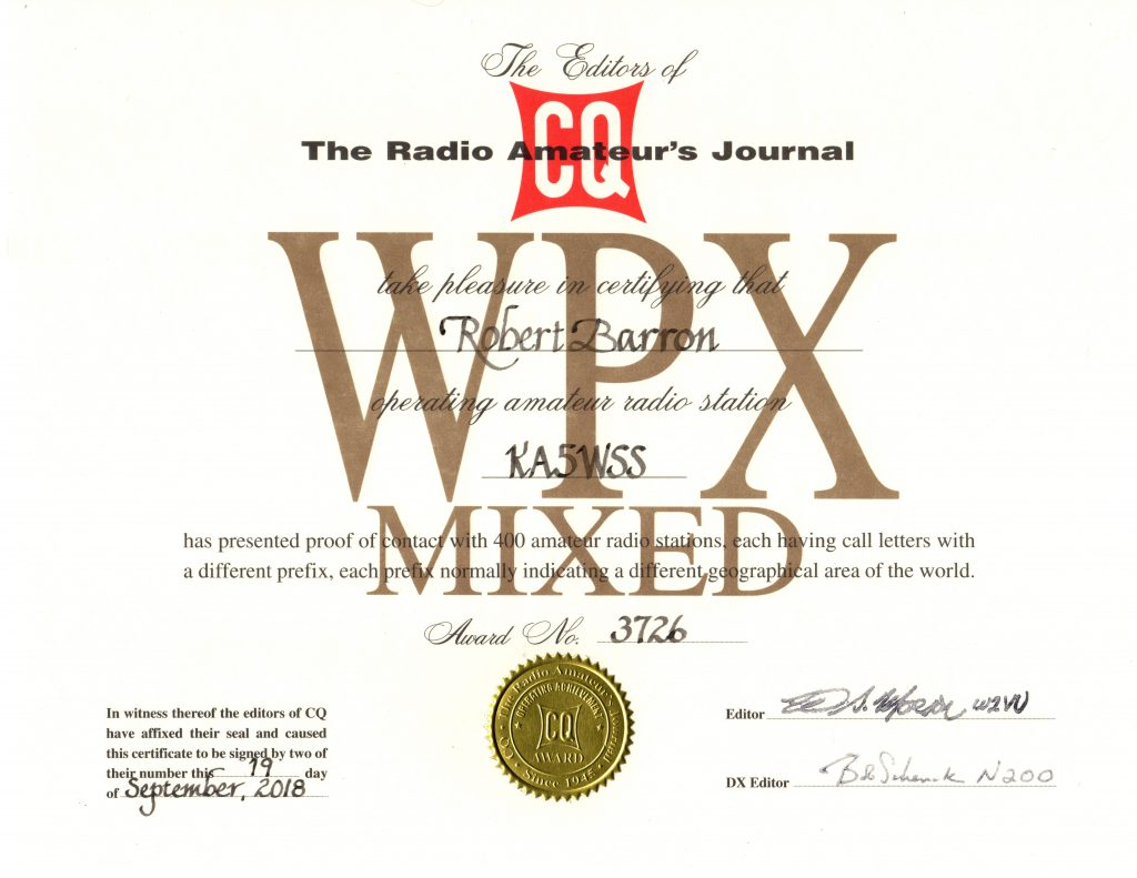 WPX Mixed Award